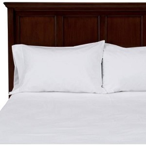 "OPULENCE Mercerized Hotel Bed Sheets- 250 Tc, 60% Combed Cotton/40% Polyester, WHITE- QUEEN FLAT SHEETS, 94x115"",  low as $137.43 per dozen"
