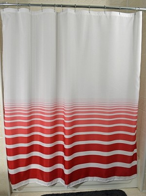"New - RuJan HORIZON-Standard Finish Hang Curtain with Sewn Eyelets 6' X 6' (70"" Wide x 72"" Long)-Color-Pompeian Red"