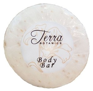 HOTEL Terra Botanics Facial Soap, Pleatted wrapped, 15 gm./.50oz. With Organic Honey And Aloe Vera (Case of 700)