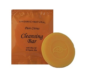 TERRA PURE-Wild Citrus Hotel Cleansing Bar Soap, #75/15 g Citrus, Organic Olive Oil and Aloe (Case of 400) Low as $ 37.35 Cs./$0.09 each)