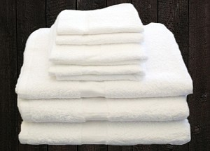 "HOTEL MOTEL HOSPITAL -B-GRADE-SLIGHT IRREGULAR Bath Towel-100% Cotton 24"" x 48""-8.0lb, White Case of 240 or  (10 dz)"