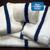 "WHOLESALE Economy 10's Hotel/Motel BLUE CENTER STRIPE Bath/Pool Towels, 6.00 lb/dz, 22x44"", White. Per dozen (low as $14.99/dz)"