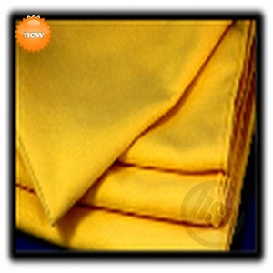"Microfiber Suede Weave Finish Polishing Towels, 14x14"" Yellow. Price each, Sold by the Dozen."