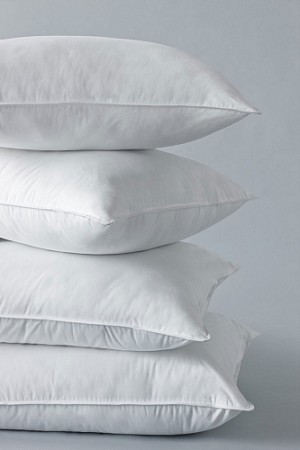 ChamberFirm Pillow by Standard Textile, Hotel FIRM Pillow with 3-Chamber Design,  two types of down-alternative fill-STANDARD Size, Price each
