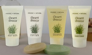 HOTEL-EARTH Conscious Desert Breeze SHAMPOO, 1.0 oz/30 ml TUBE, FLIP CAP (Case of 300) Low as $ 62.85/Cs)