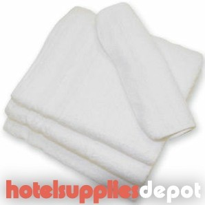 "Economy 10's Hotel Hand Towels, 2.25 lb/dz, 15x25"", White. Case of 600 Each (50dz)"