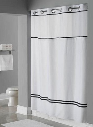"Hookless ESCAPE, Shower Curtain with It's A Snap liner, 100% polyester 71""x77"". Case of 12. (Low as $23.67 each)"