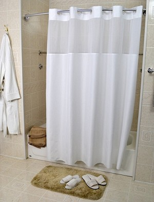 "HOTEL Ezy Hang TOP VIEW MOIRE Pattern, Shower Curtain , 100% Polyester, 72""W x 74L"" , Low as $15.80"