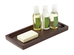 Steeltek® Hamilton Collection, Amenity Rectangular TRAY (Natural Wood Grain Design) Low as $19.15 Each