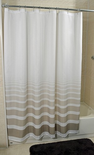"New - RuJan HORIZON-Standard Finish Hang Curtain with Sewn Eyelets 6' X 6' (70"" Wide x 72"" Long)-Color-Tony Taupe"