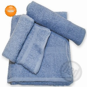 "BLUE Wash Cloth, 100% RING SPUN Cotton, 12x12"", 1.00 Lb/Dz. Case of 600"