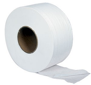 "Atlas Paper Mills Jumbo Tissue Roll Towels, White, 2-Ply JRT 9"", Case of 12"
