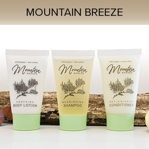 Mountain Breeze Shampoo, 1 oz. Hospitality/Travel Size Tube, Enriched with Organic Aloe and Honey (Case of 300) Low as $ 53.56 Cs./$0.178 each)