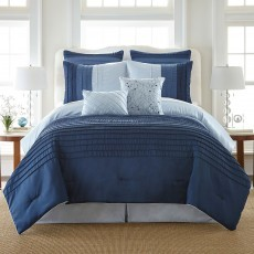 8 Piece Comforter Set Bed in a Bag Bedding  KING Size, (BLUE) Home Quality, Starting at $75.05 each