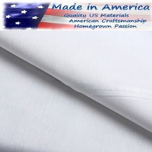 "250 Tc American Made 60% Cotton/40% White Percale Elegance Hotel Casino Flat Sheets, KING FITTED - 78 x 80+15"", (low as $185.00 Dz)"