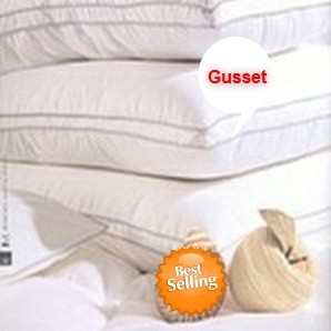 "Hotel Embossed Microfiber, GEL-Like Down Alternative Hypo-Allergenic Firm Pillow, 1"" Gusset, STANDARD Size, 26 oz , Set of 2"
