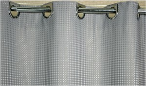 "Ramsey Ezy-Hang Polyester Hotel 300 Denier Shower Curtain 72x74"", Color GREY, Price Each (Starting at $19.25ea)"