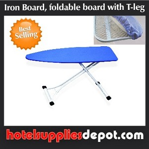 Hotel Heavy Duty Full Size Metal Top Iron Board, Padded Cover, L53