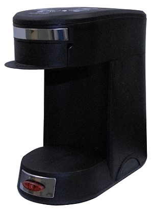 1-CUP POD COFFEE MAKER Brews PD Coffee, Auto Shut Off, RED POWER ON