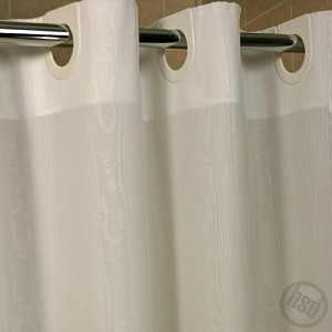 "Rujan Peek-A-Boo MOIRE Style Polyester HOTEL Shower Curtain, White, 72x74"", (low as $20.95)"