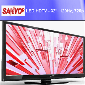 "SANYO Refurbished FW55D25FB 720p 120Hz Class LED HDTV 32"", (Low as $135.99 ea) Minimum 32 Sets"