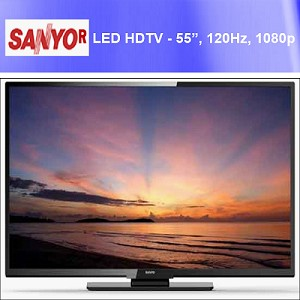"SANYO Refurbished FW55D25FB 1080p 120Hz Class LED HDTV 55"", (Low as $385.99 ea) Minimum 8 Sets"