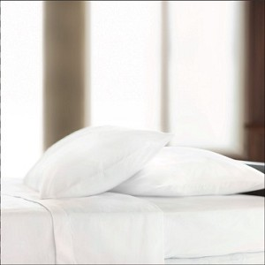 "Centium SATIN White Hotel Sheet by Standard Textile Centium Core, King Flat Extra-Wide 114x125"", Price each"
