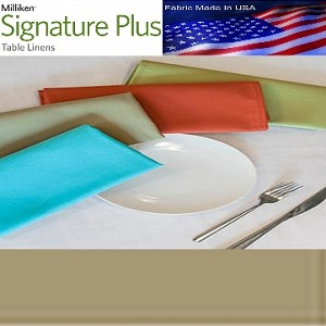 NEW Milliken Signature Plus Table Napkins, 100% Spun Milliken Polyester, 21