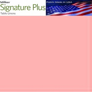 "Milliken Signature Plus Table Napkins, 100% Spun Milliken Polyester, 21"" x 21"", Case of 12 each (low as $ 1.43 ea) PINK"