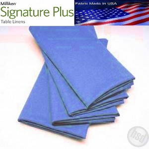 "Milliken Signature Plus Table Napkins, 100% Spun Milliken Polyester, 21"" x 21"", Case of 12 each (low as $ 1.43 ea) WEDGEWOOD BLUE"