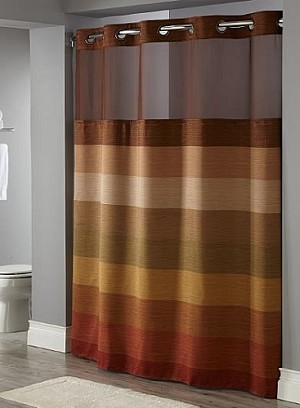 "By the case, STRATUS-BRONZE HOTEL HOOKLESS Polyester Shower curtain w-Snap liner, 71x77"" (Starting at $34.15 each )"