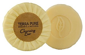 TERRA PURE-Green Tea SPA Hotel CLEANSING BAR, 0.6 Oz./17 g, Aloe Vera and Palm Oil Recycled Paper, Tissue Wrap (Case of 400) Low as $ 47.08 Cs./$0.117 ea