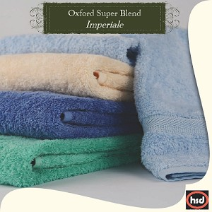 "Oxford Imperial LUXURY Ring Spun Cotton, Hand Towel 16"" x 30"" 3.95 Lb/Dz , COLONIAL BLUE, (Starting at $19.48 Dz)"